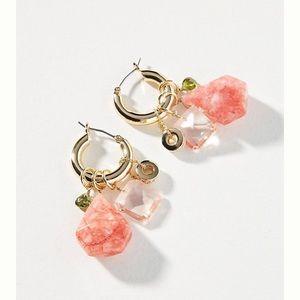 Anthroplogie Noemie Huggie Hoops Earrings